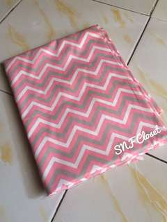 Cotton Twill - Chevron Pink