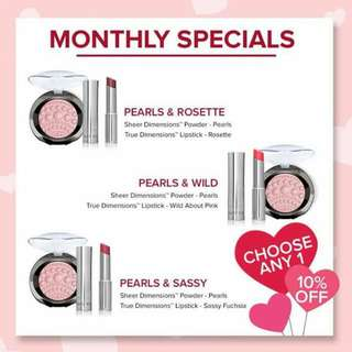 Mary Kay May Promotion :  Sheer Dimension Pearls Powder True Dimension Lipstick