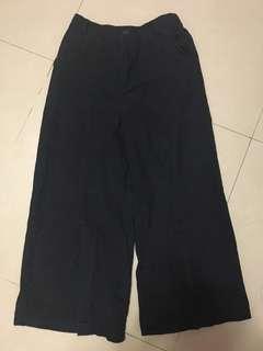 🚚 黑色 寬褲 牛仔 jeans
