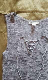 Grey Knit-like Top