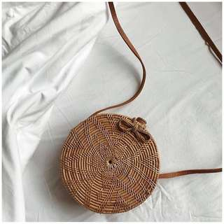 Rattan Flower Bag