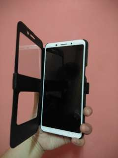 Oppo f5 flip cover case with view