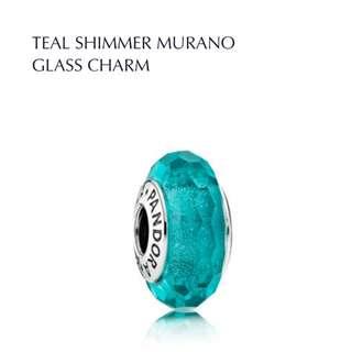 Bnis Pandora TEAL SHIMMER MURANO GLASS CHARM