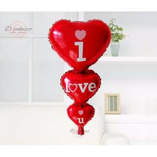 (Ready Stock) I Love You Wedding Heart Shape Valentine's Day Proposal Balloon