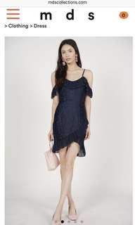 BNWT MDS Midnight Ruffles Dress