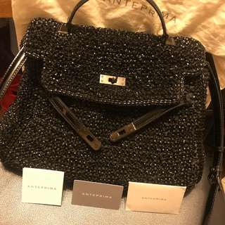 100%real 99%new Anteprima Wirebag black 2 material hermes style Kelly bag