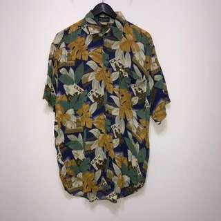 伏見古著 夏威夷襯衫 復古花襯衫 印度尼西亞製 vintage