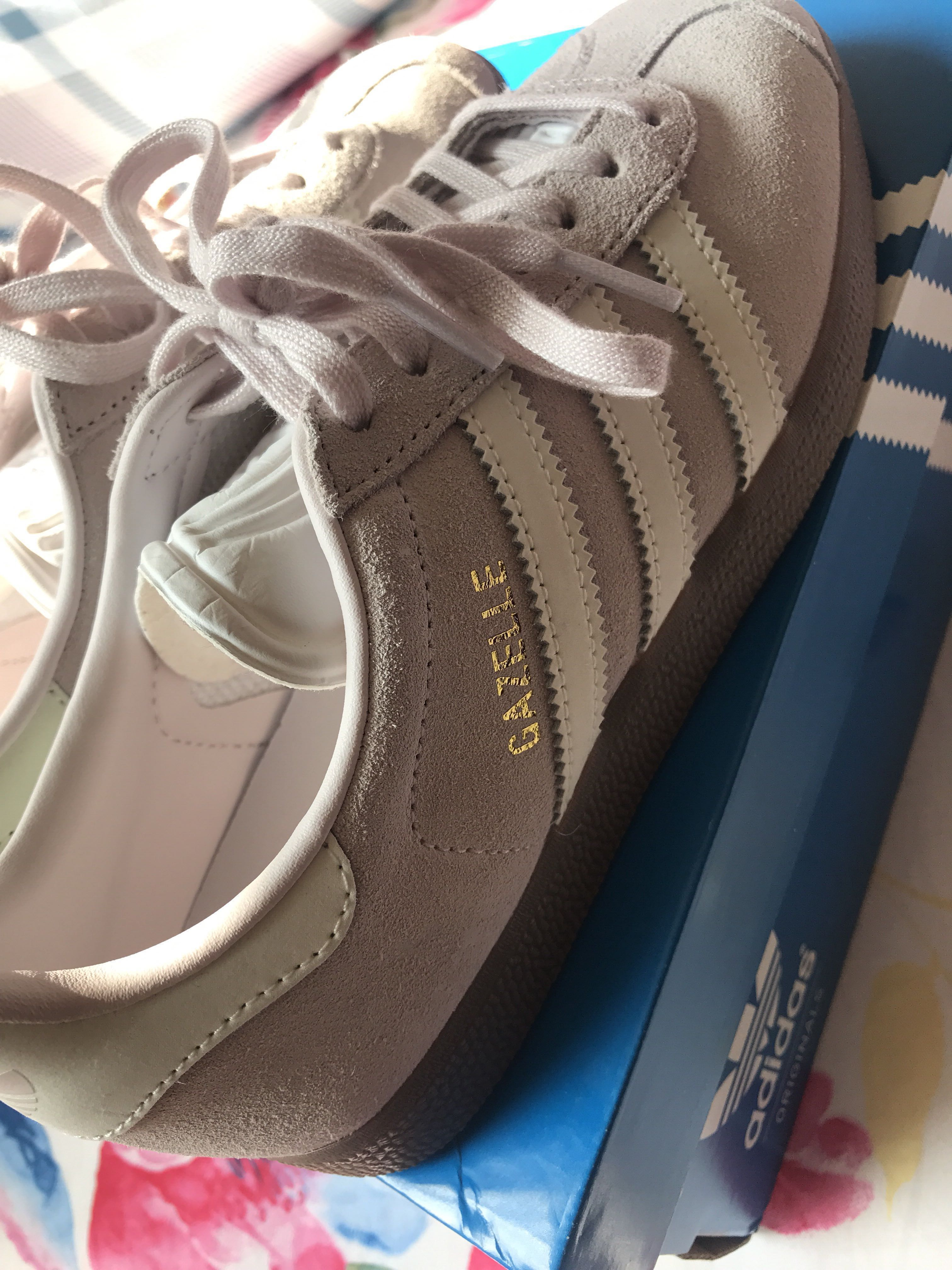 release date f8c89 0f96c Adidas Originals Gazelle Trainers In Lilac with dark Gum Sole 波鞋平 ...