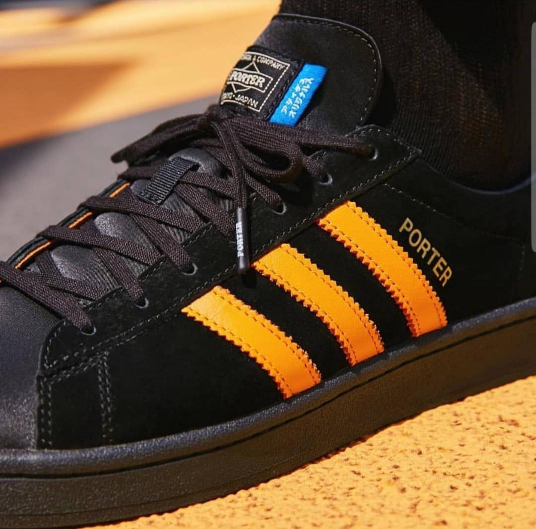 2905f4f2784c Adidas Originals x Porter Campus Black Orange