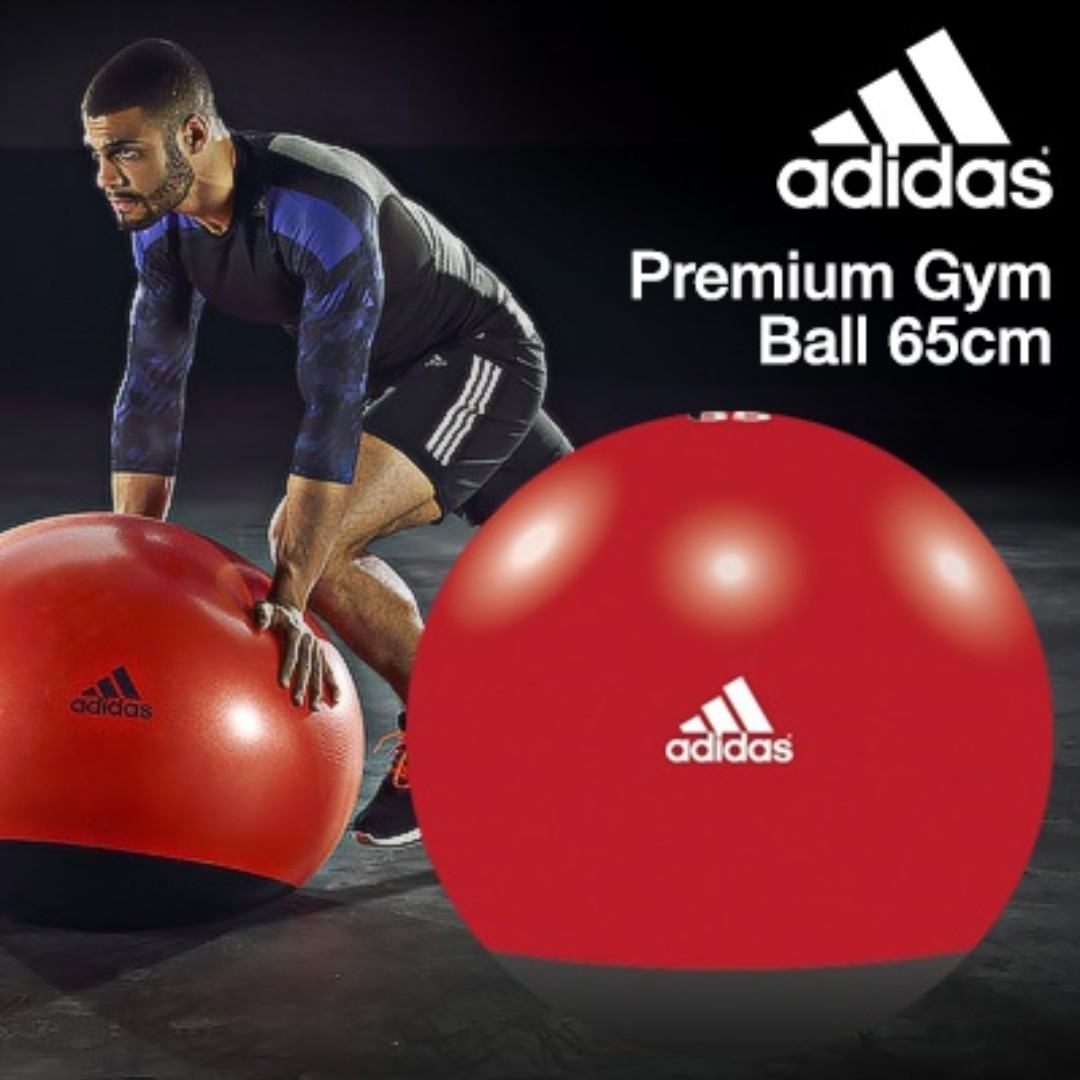 peine volatilidad llegar  Adidas Premium Weighted Gym Ball 65cm (Black/Red), Sports, Sports & Games  Equipment on Carousell