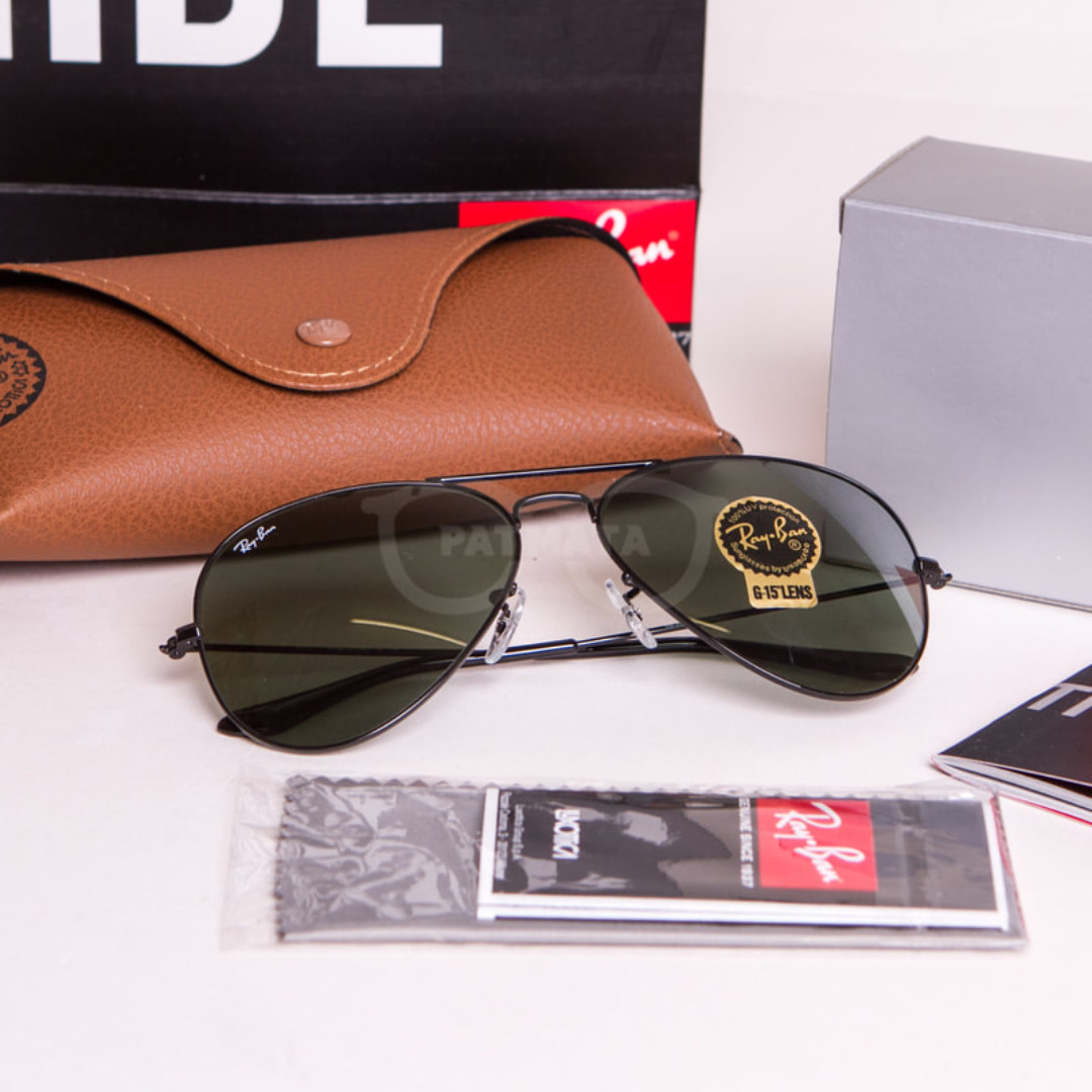 9028afc5891 Authentic Ray Ban Aviator Black Frame Lens G15