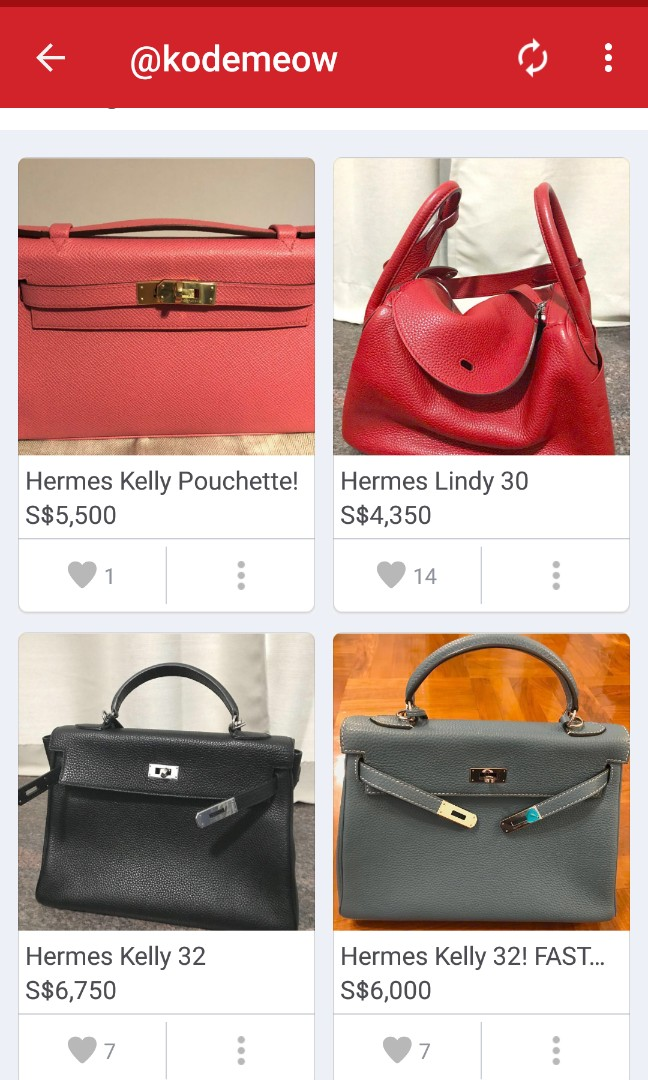 c5711a803b58 ... usa hermes lindy 30 26 birkin 28 kelly 32 luxury bags wallets on  carousell 76436 ab4be