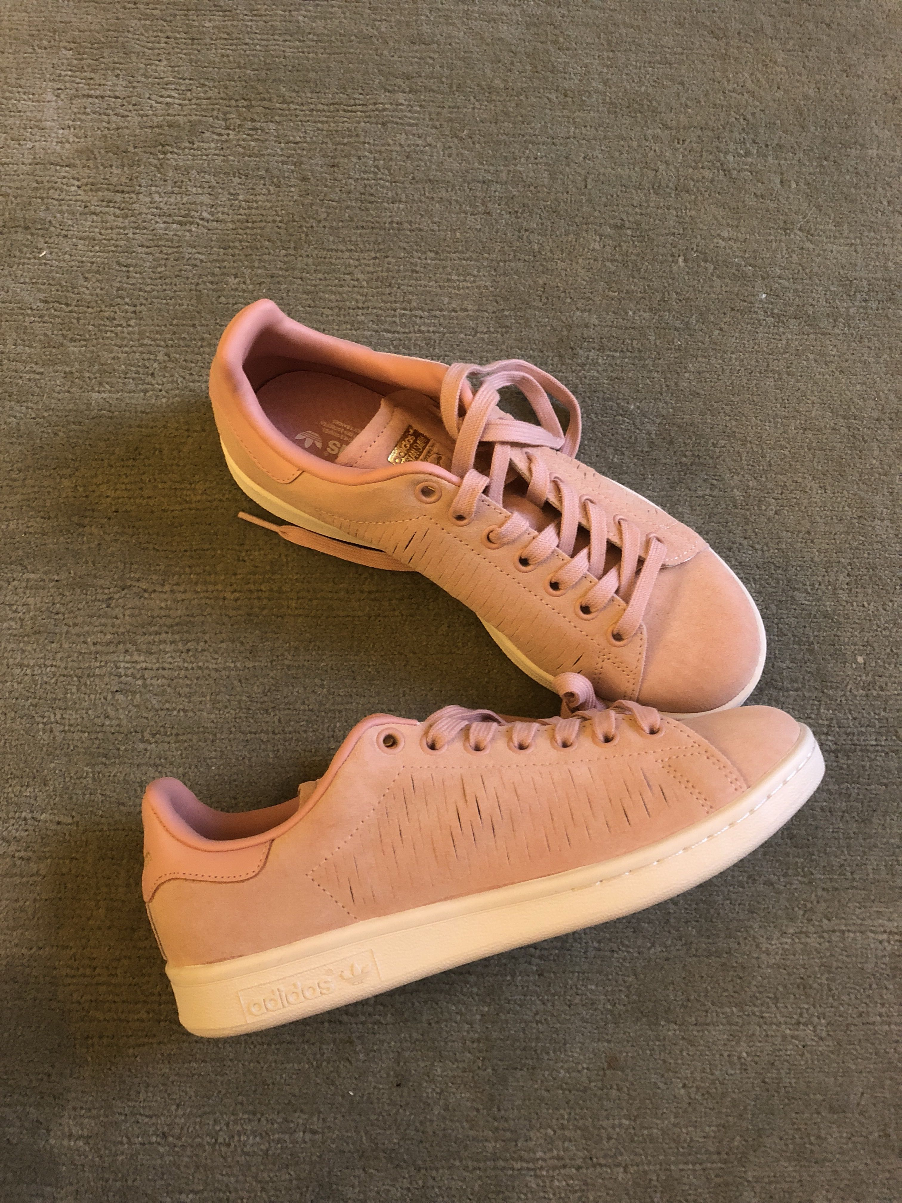 d94048bf9bebfb BN Adidas Stan Smith Pink Suede Uk5.5