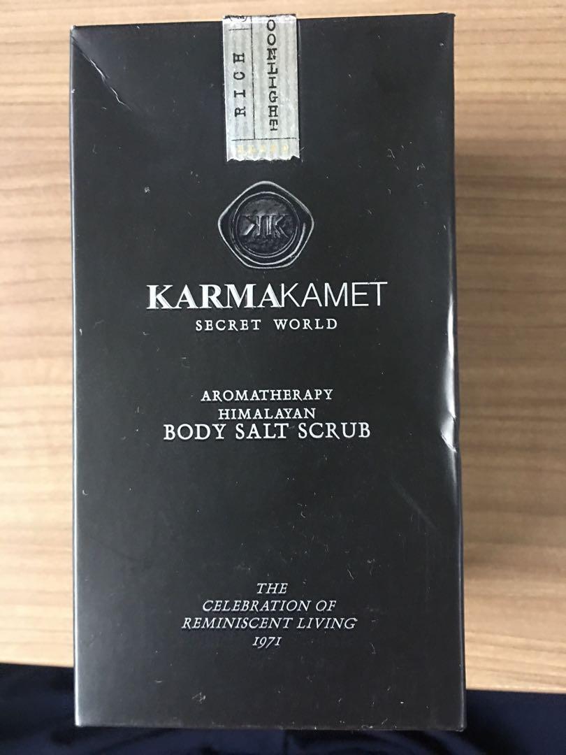 Bnib Karmakamet Body Salt Scrub Health Beauty Bath On Veet Sensitive Touch Electric Trimmer Flash Carousell