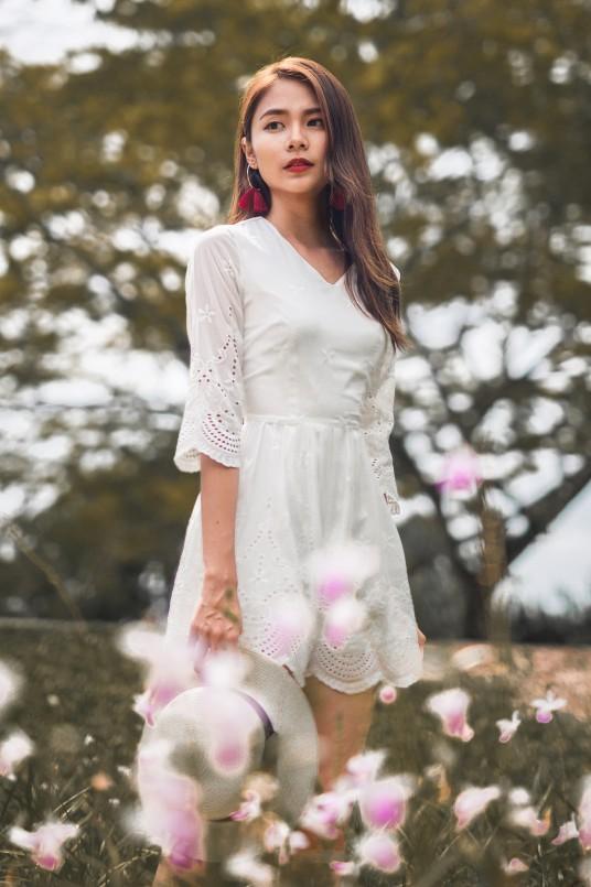 c10027f93c BNWT MGP Vina Embroidery Romper in White (M)