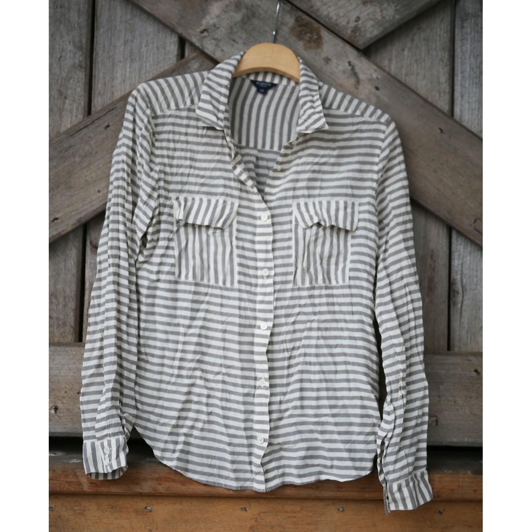 Elwood Raw Silk Striped Shirt