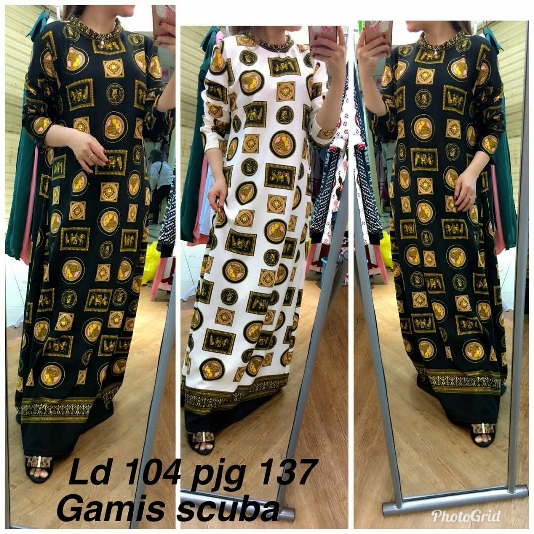 Gamis Bahan Scuba Olshop Fashion Olshop Muslim On Carousell