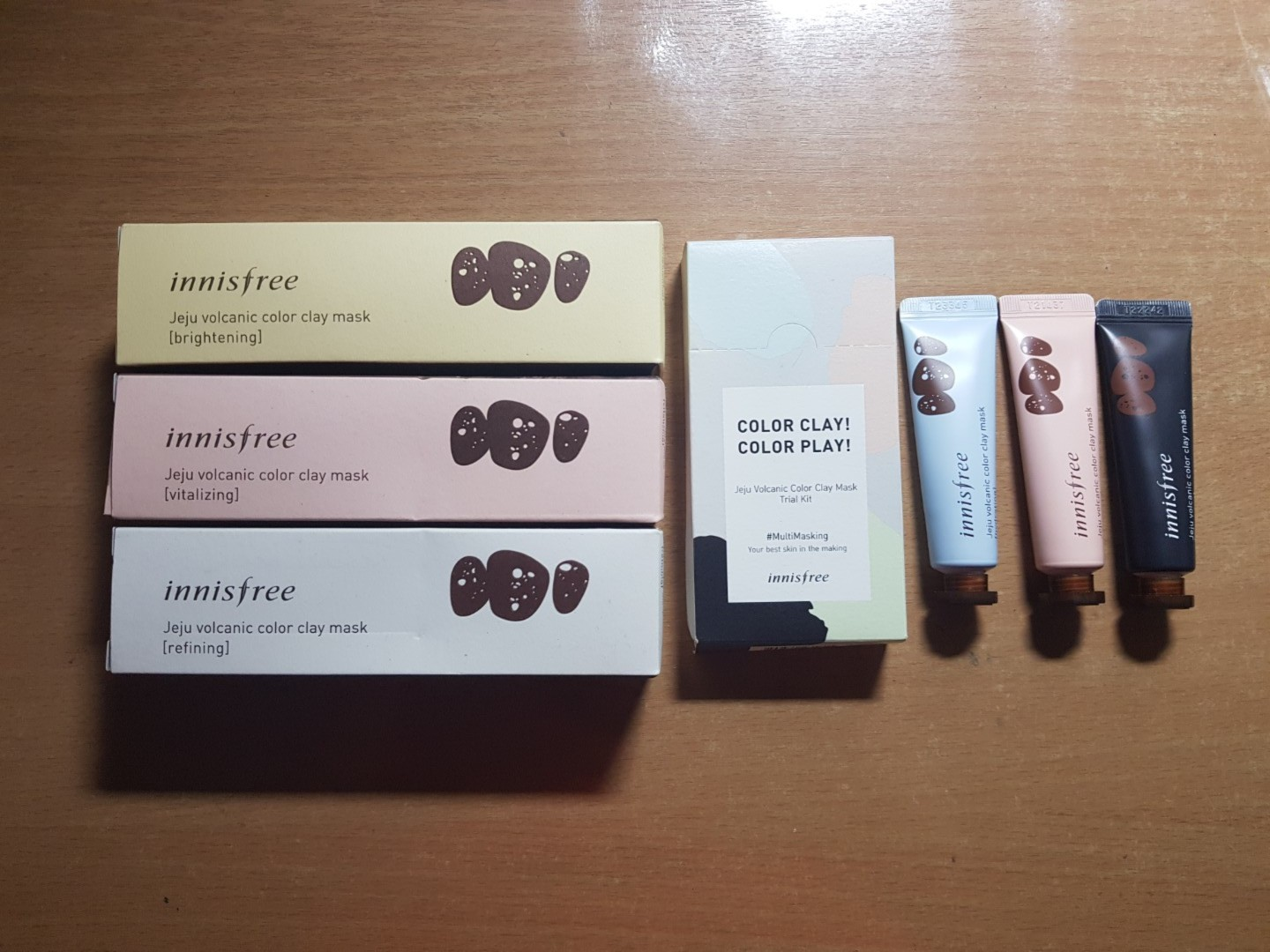 Innisfree Volcanic Colour Clay Mask 70ml Freebies Included Di Jeju Color Refining Photo
