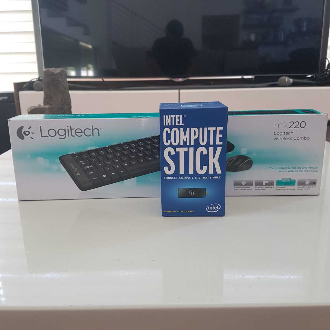 Intel Compute Stick With Logitech Mk220 Bluetooth Kb And Mouse Combo Keyboard Wireless Original Electronics Computers Tablets On Carousell