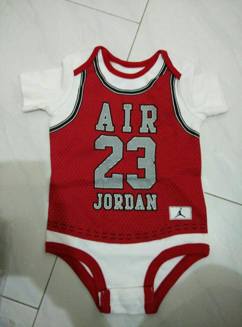 91706bcfbf8b Jordan infant newborn romper onesie 6 7 8 9 10 11 12 months red ...