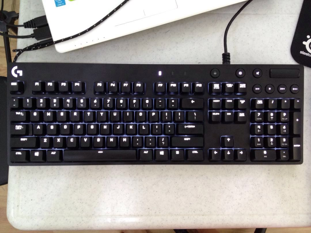 Logitech G610 Gaming Mechanical Backlit Keyboard Electronics G512 Rgb Gx Blue Computer Parts Accessories On Carousell