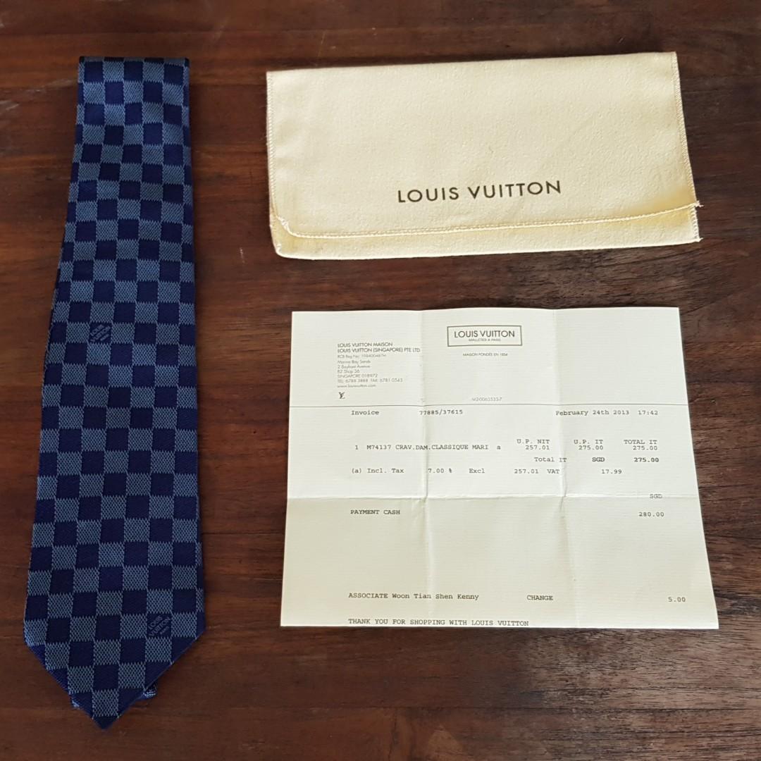 4bf346b1d05c Louis Vuitton Damier Classique Tie
