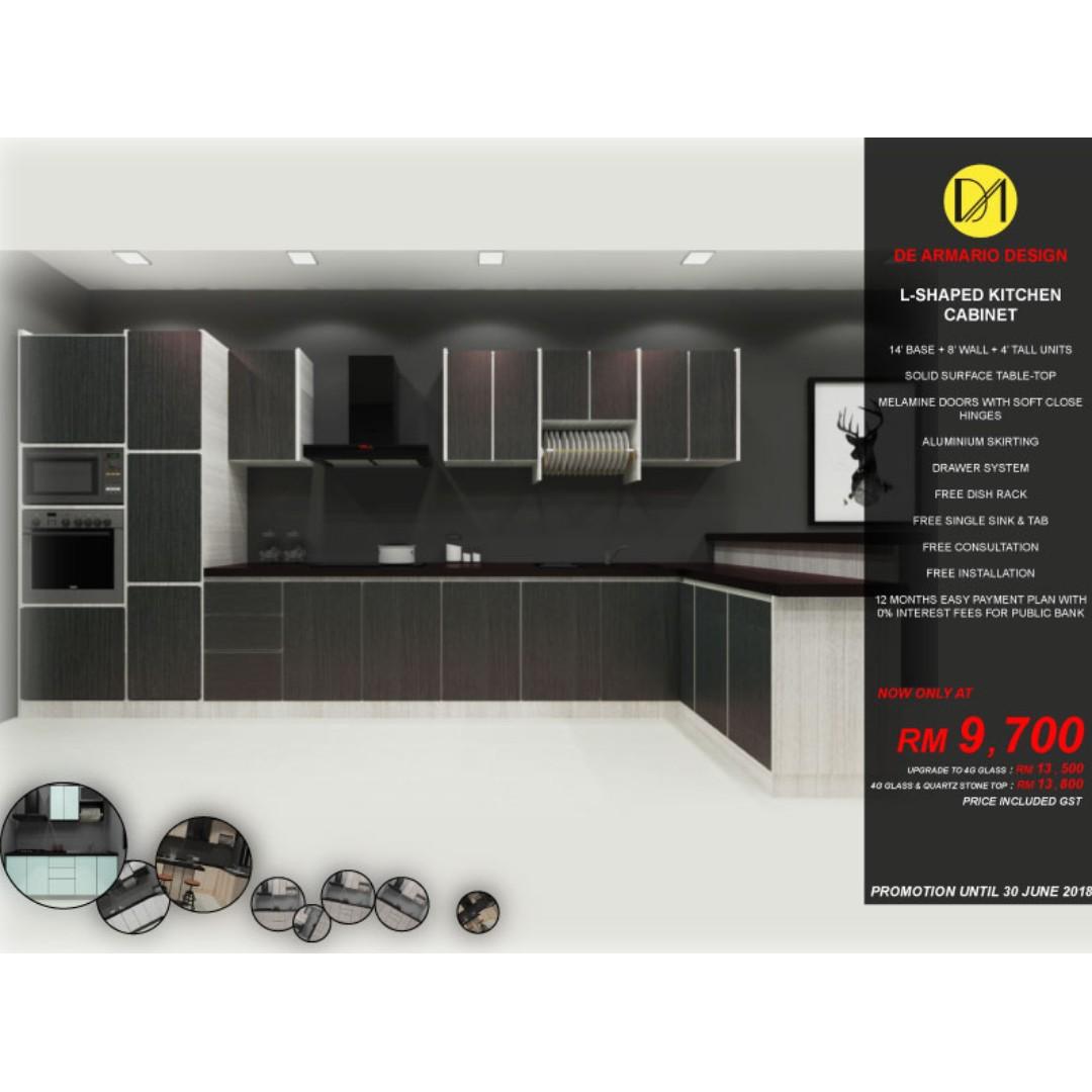 L Shape Kitchen Cabinet Home Furniture Furniture On