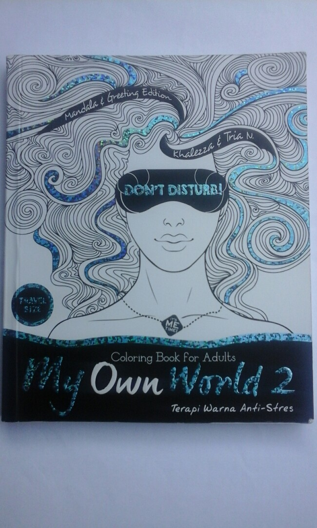 My Own World Coloring Book For Adult Buku Alat Tulis Majalah