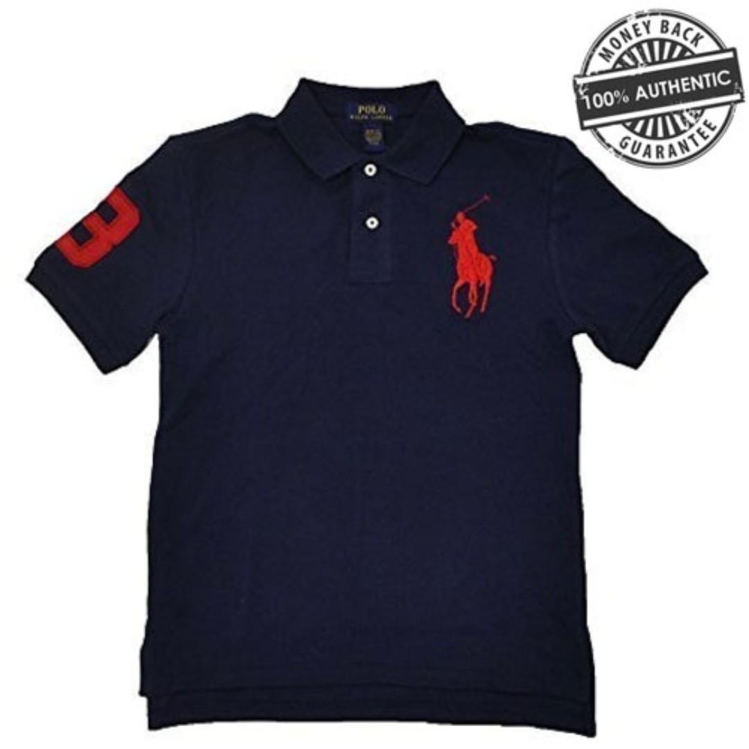 0e46b7f3aa0 NEW Polo Ralph Lauren Men s Big Pony Custom Fit T Shirt Sizes M L  (Black Navy Blue White Maroon Green)