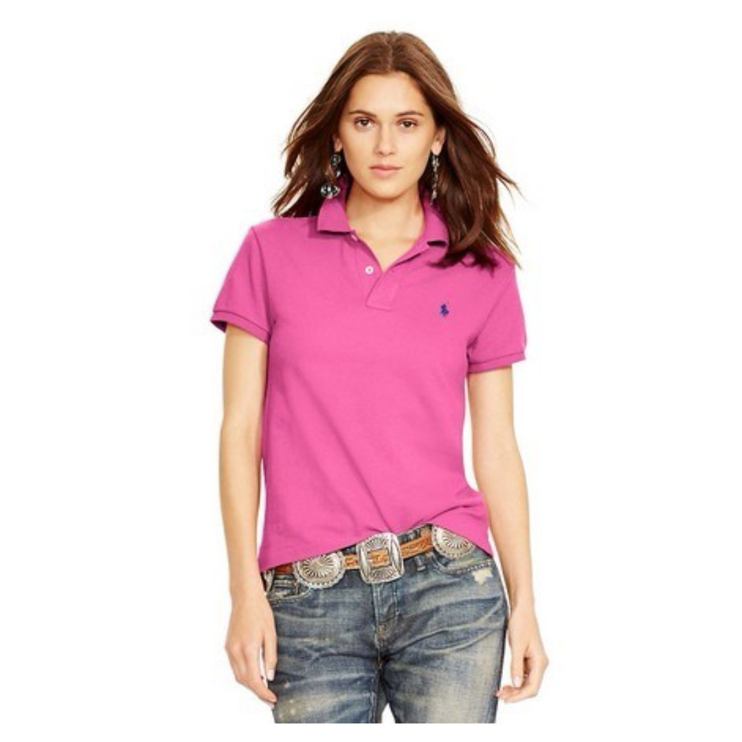 NEW Polo Ralph Lauren Women s Classic Fit Stretch Polo Maui Pink ... 7fbc7d15f0