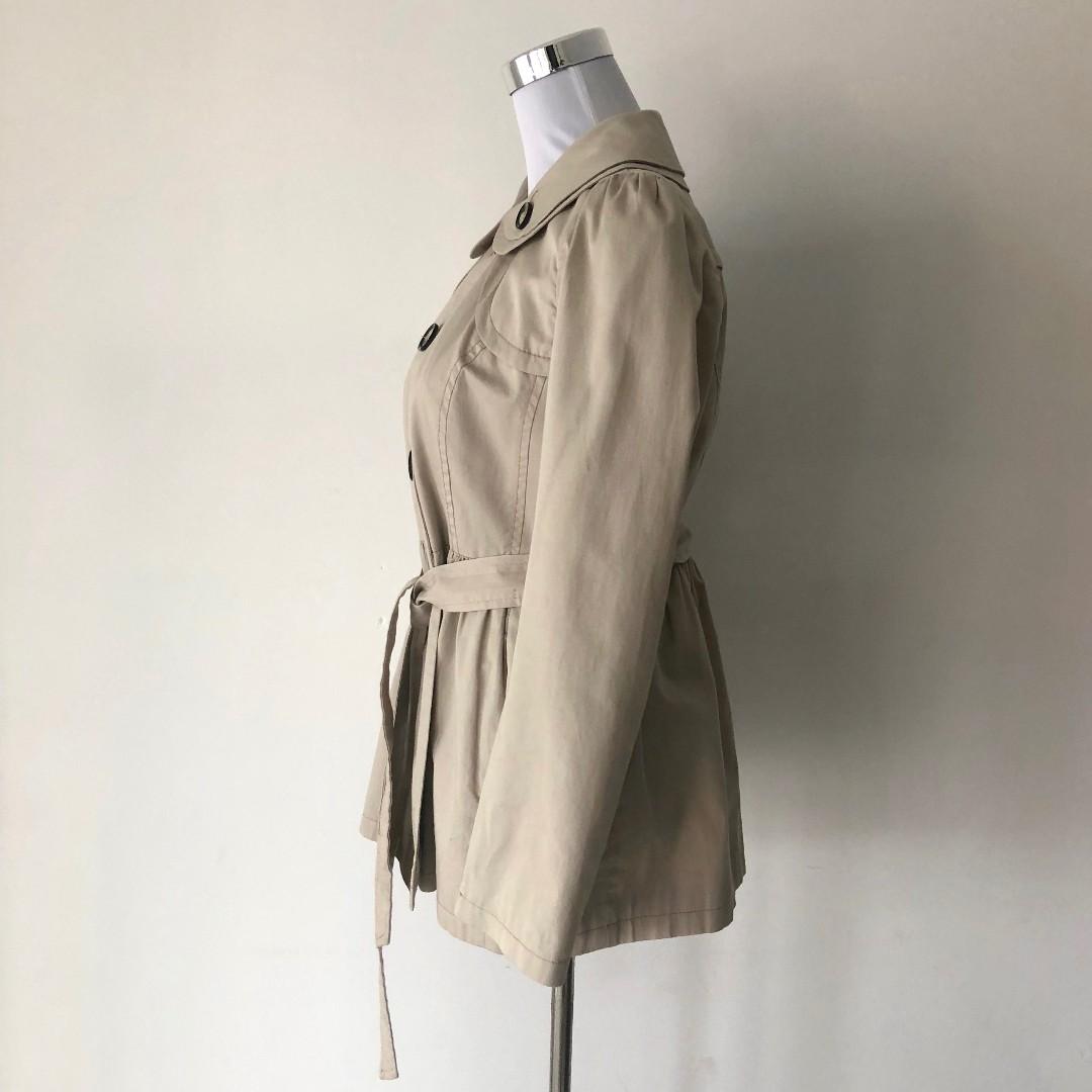 Next Peter Pan Collar Trench Coat Size 12