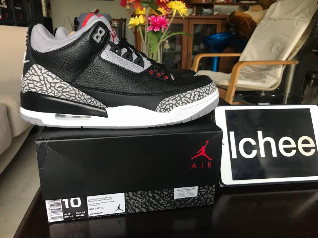 best value a1f30 cd90c Nike Air Jordan 3 Black Cement