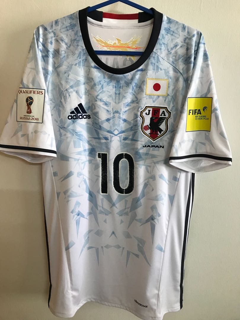 Official Authentic ADIDAS Japan 2016-2017 Away Jersey KAGAWA  10 Shirt  World Cup 2018 Qualifiers kit 9b5c63fef