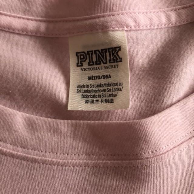 Pink long sleeve crop