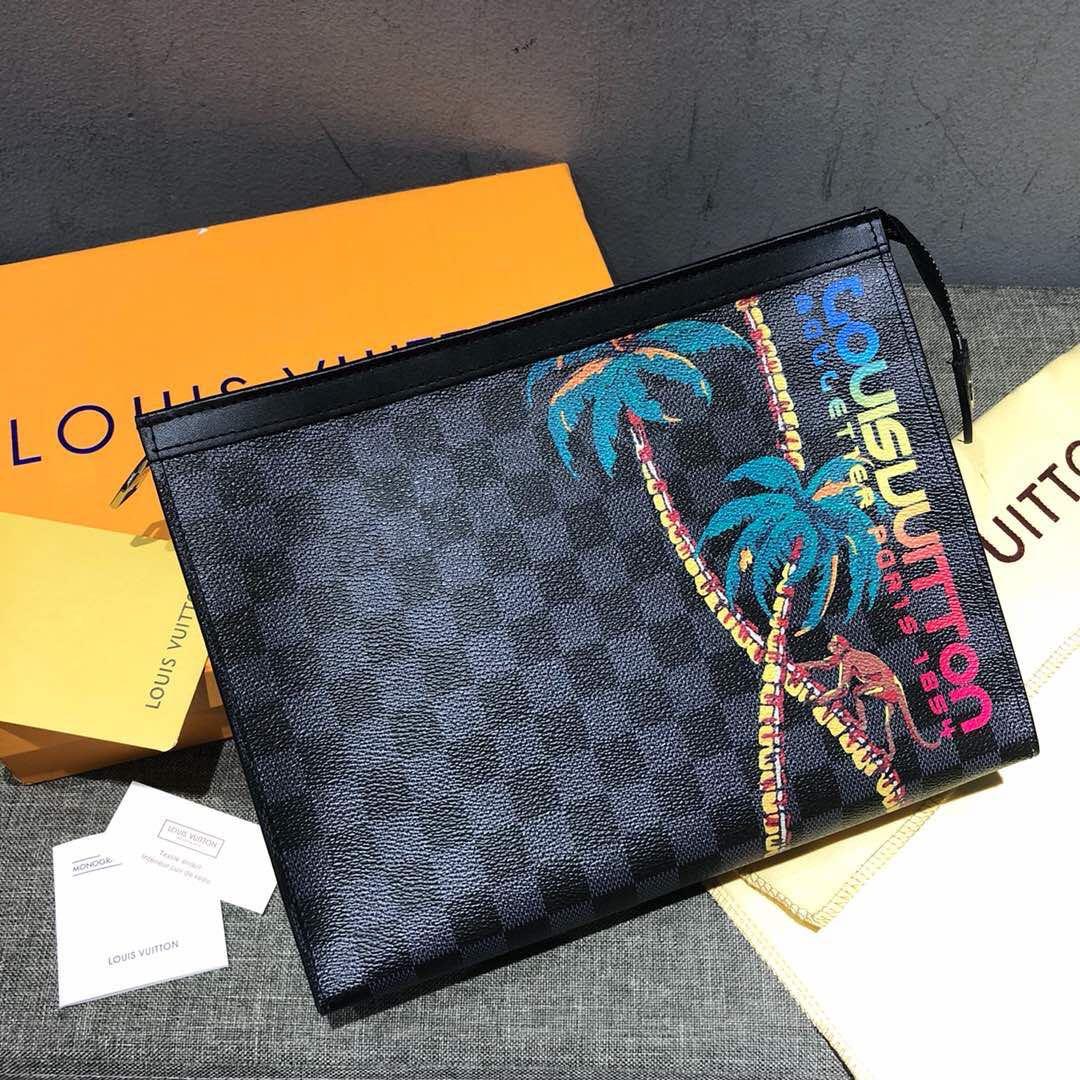 afcb85ab7606 Real Leather) Louis Vuitton Clutch Cobalt Jungle 2018