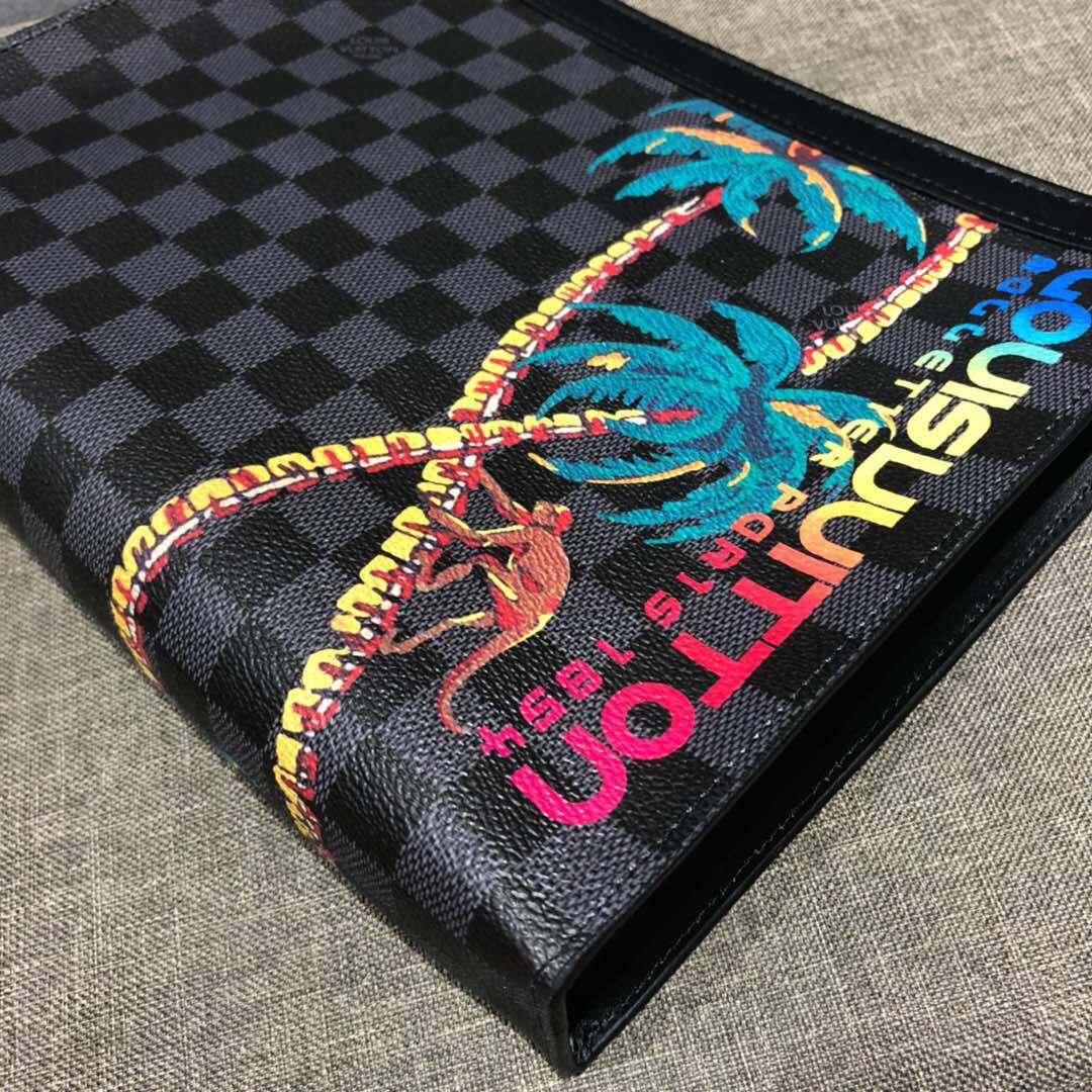 2a286c7892cb (Real Leather) Louis Vuitton Clutch Cobalt Jungle 2018