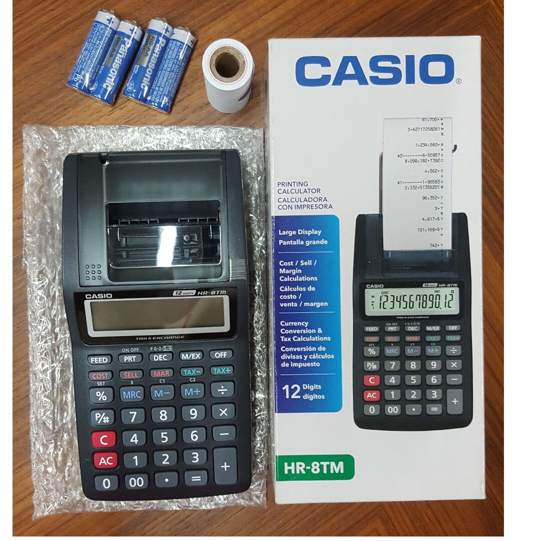 Reduced Casio Hr 8tm Calculator Mini Printer Hr8tm Electronics Kalkulator Portable 8 Tm Lain Di Carousell