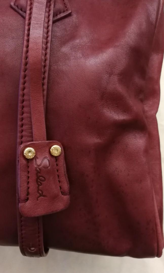 Salad 紫紅色手袋