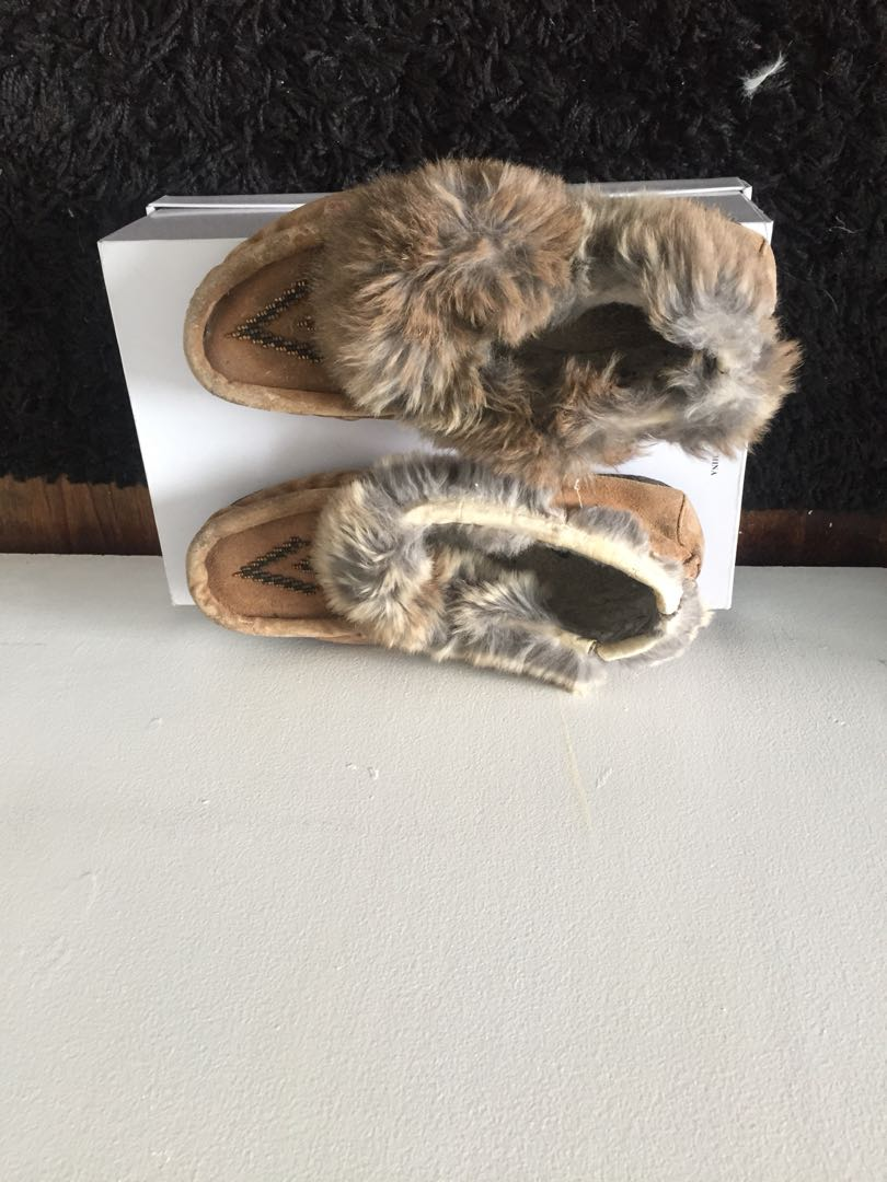 Softmoc fur moccasins