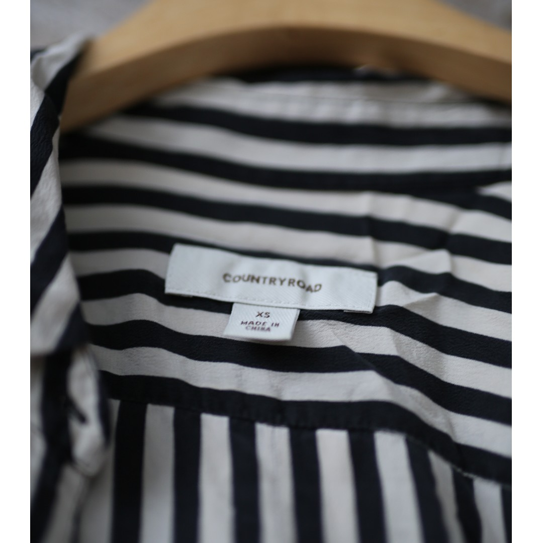 Striped raw silk Country Road shirt