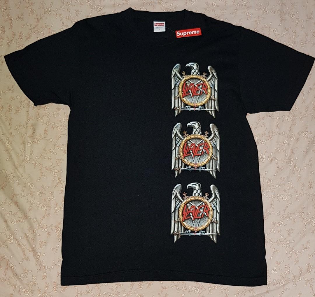 030a96b7 SUPREME X SLAYER EAGLE ROUND NECK TEE, Men's Fashion, Clothes, Tops ...
