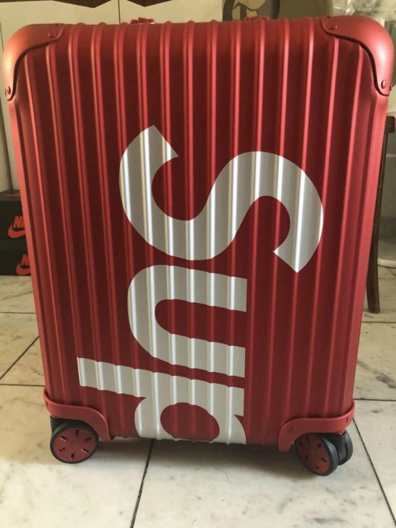 d99f4df27 Supreme x Rimowa Luggage, Travel, Travel Essentials, Luggage on ...