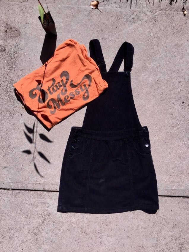 The Overall Black Dress