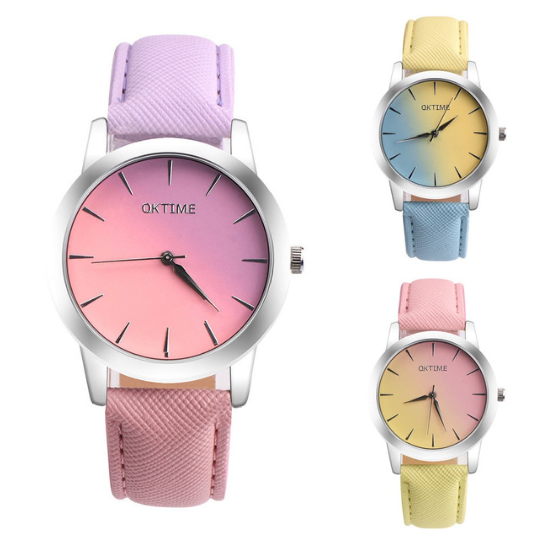 Two-tone Fashion Ladies Wrist Watches Luxury Brand Women's Bracelet Watches New Simple Design Quartz Watches Horloge Dames