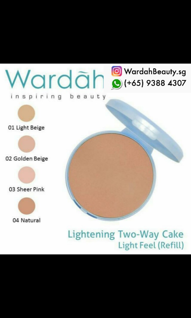 Wardah powder refill two way cake $5 nett price twc foundation powder cosmetic halal make up beauty, Health & Beauty, Makeup on Carousell