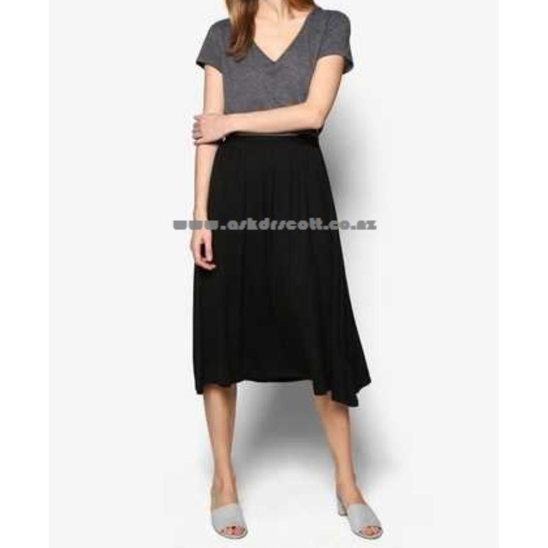 Zalora Basics Light Weight Midi Skirt