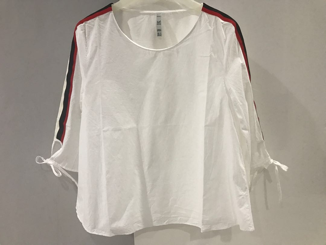 Zara white top with lining shoulder