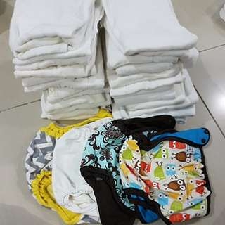 PLANETWISE CLOTH DIAPER COVERS AND GENERIC PREFOLDS. TAKE ALL!