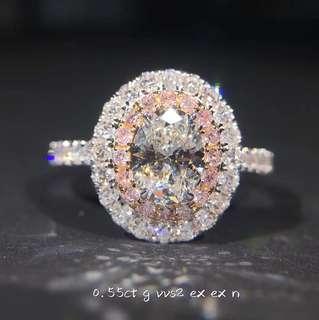 💯GIA VVS2 Oval Brilliant Diamond Ring