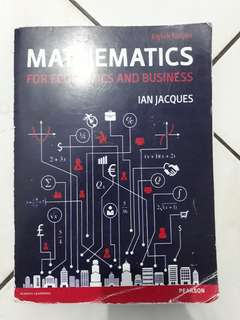 Buku kuliah Mathematics for Economics and Business (Ian Jacques)